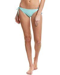 Shoshanna - Solid Seafoam Clean Triangle Bikini Bottom - Lyst