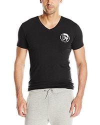 DIESEL - Essentials Michael Mohican V-neck T-shirt - Lyst