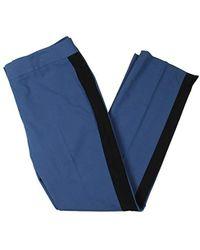 7599d81f87b Lyst - Nine West Womens Printed Formal Dress Pants in Blue