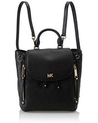 6121431e6486 Michael Michael Kors Evie Embellished Small Leather Backpack in Blue ...