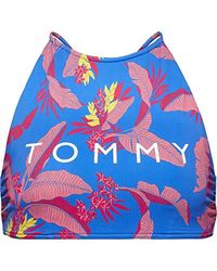 694dbe215348d Tommy Hilfiger Crop Top Rp Bikini in Blue - Lyst