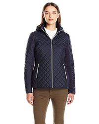 Kensie - Active Quilted Jacket With Ponty Detail And Fully Removable Hood - Lyst