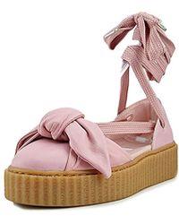 PUMA - Fenty X Bow Creeper Sandals, Silver Pink/silver Pink, 6.5 M Us - Lyst