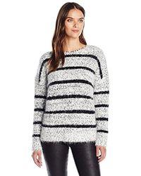 Calvin Klein - Eyelash Striped Sweater - Lyst