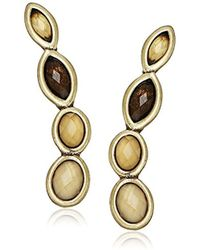 Lucky Brand - S Citrine And Mother-of-pearl Earrings Crawler - Lyst