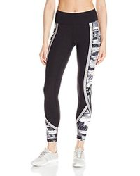 Betsey Johnson - Metallic Print Blocked Ankle Legging - Lyst