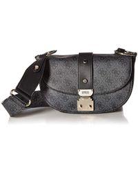 1ce9429f54 Guess Florence Shoulder Bag in Black - Lyst