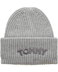 d1554d0a Tommy Hilfiger Stripe Wool Beret in Blue - Lyst