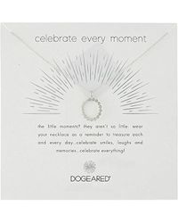 """Dogeared - Celebrate Everything, Dotted Circle Crystal Chain Necklace, 16""""+2"""" Extender - Lyst"""