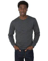 American Apparel - Flex Fleece Crew-neck Pullover Sweatshirt - Lyst