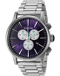 Nixon - '51-30 Chrono' Quartz Stainless Steel Watch, Color:silver-toned (model: A0832194-00) - Lyst