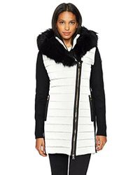 Calvin Klein - Performance Walker Jacket With Sweater Rib And Drama Collar Fur Trimmed Hood - Lyst