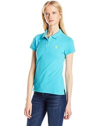 U.S. POLO ASSN. - U.s Assn. Juniors Solid Polo Shirt With Small Pony - Lyst