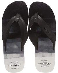 072efe446baa77 O neill Sportswear - Fm Imprint Pattern Flip Flops - Lyst