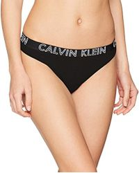 Calvin Klein Damen String Thong - Schwarz