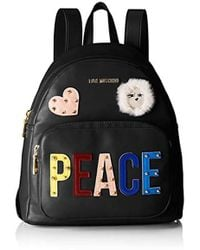 Love Moschino - Peace Backpack Black - Lyst