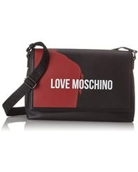 Love Moschino - Borsa Saffiano Pu Nero-rosso, Sacs pour ordinateur portable homme, Multicolore (Black-red) - Lyst
