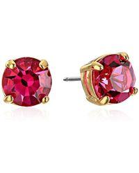 "Kate Spade - ""cueva Rosa"" Gold-tone Pink Glass Stud Earrings - Lyst"