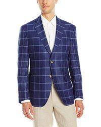 Franklin Tailored - Summer Delave Windowpane Newton Sport Coat - Lyst