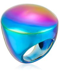Trina Turk - Psychadelica Dome Coated Hematite Ring, Size 7 - Lyst