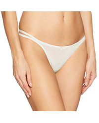 Betsey Johnson - Textured Mesh Double String Thong Panty - Lyst