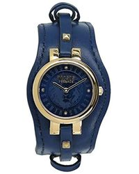 Versus - 'berlin' Quartz Gold-tone And Leather Fashion Watch, Color:blue (model: Vspgr2518) - Lyst