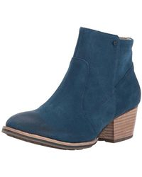 Caterpillar - Cider Side Zip Bootie With Stacked Heel Ankle Boot - Lyst
