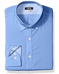 Izod - Slim Fit Solid Button Down Collar Dress Shirt - Lyst