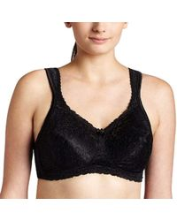 bf80f1957c5a9 Lyst - Playtex Plus Size Comfort Lace Wire-free Bra in Brown
