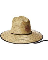 Quiksilver - Waterman Dredge Waterman Straw Sun Hat - Lyst