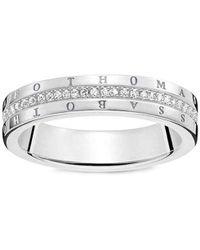 Thomas Sabo - FASHIONRING - Anello, con Diamante, argento, misura 54 (17.2) - Lyst