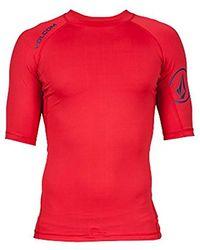 Volcom - Solid Short Sleeve Rashguard - Lyst