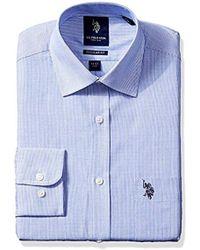 U.S. POLO ASSN. - . Hairline Stripe Semi Spread Collar Dress Shirt - Lyst