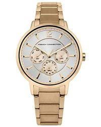 French Connection - Quartz Metal And Stainless Steel Casual Watch, Color:rose Gold-toned (model: Fc1300rgm) - Lyst