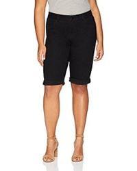 Rafaella - Plus Size Slim Fit Denim Bermuda Short - Lyst