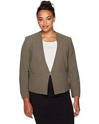 Nine West - Plus Size V Neck Jacket - Lyst