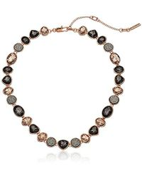 Kenneth Cole - Supercharged Collection Black Diamond, Blush And Druzy Stone Collar Necklace - Lyst