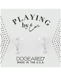 Dogeared - Pe Pave Huggie Earrings, Sterling Silver - Lyst