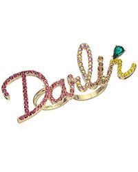 Betsey Johnson - S Pave Darlin Ring - Lyst