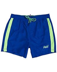 Superdry Beach Volley Swim Short Bañador para Hombre - Azul