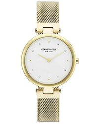 Kenneth Cole - 'classic' Quartz Stainless Steel Casual Watch, Color:gold-toned (model: Kc50511002) - Lyst