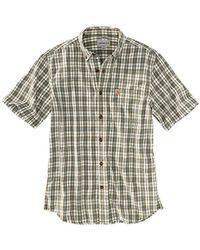 Carhartt - Essential Plaid Button Down Short Sleeve Shirt - Lyst