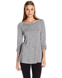 CALVIN KLEIN 205W39NYC - Performance Convertible-sleeve Space-dye Tunic - Lyst