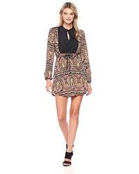 BCBGeneration - Long Sleeve Mandarin Collar Dress - Lyst