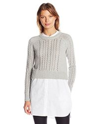 French Connection - Crochet Cable Knits - Lyst