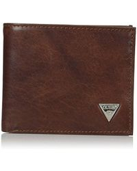 Guess - Leather Passcase Wallet - Lyst