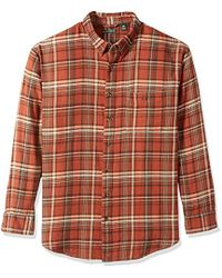 G.H.BASS - Big And Tall Fireside Flannel Plaid Long Sleeve Shirt, Arabian Spice, 2x-large Tall - Lyst