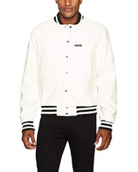 Members Only - Bleeker Faux Leather Vintage Varsity Jacket - Lyst