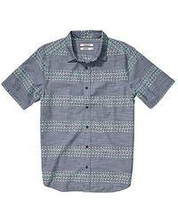 Nixon - Leary Short Sleeve Woven Shirt - Lyst