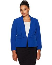 Kasper - Plus Size Wing Collar Stretch Crepe Flyaway Jacket - Lyst